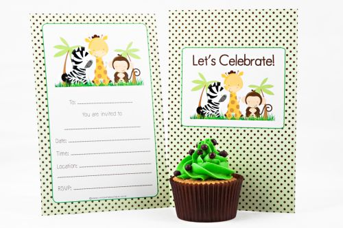 Zoo Themed Fill-In Party Invitation-party, invitation, girl, boy, fill-in, fillin, zoo, animal, safari, lion, tiger, elephant, hippo, zebra, giraffe, quality, premium