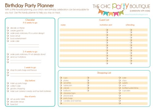 FREE Birthday Party Planner-party, invitation, digital, print yourself, diy, planner, party planner, digital planner