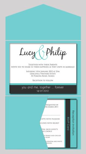 Block of Colour Wedding Invitation with Pocketfold-wedding, wedding invitation, invite, contemporary, modern, new zealand, personal, stylish, quality, inviting designs, invites by design, design, pocketfold