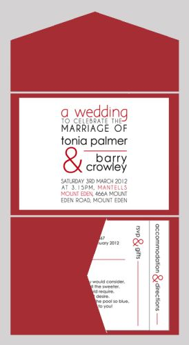 Block of Text Wedding Invitation with Pocketfold-wedding, wedding invitation, invite, contemporary, modern, new zealand, personal, stylish, quality, inviting designs, invites by design, design, pocketfold