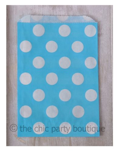 Blue with White Dot Party Bag-partybox, party, box, giftbox, gift, lootbag, loot, favor, favour, bag, partybag