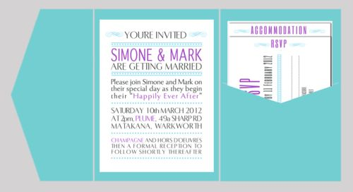 Contemporary Dots Wedding Invitation with Pocketfold-wedding, wedding invitation, invite, contemporary, modern, new zealand, personal, stylish, quality, inviting designs, invites by design, design, pocketfold