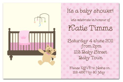 Dotty Pink with Bear Baby Shower Invitation-party, invitation, birth, announcement, birth announcement, baby shower, girl, baby, celebrate, celebration, invite, baby shower, shower