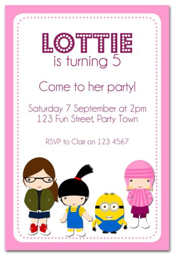 The Chic Party Boutique Party Invitations Girls