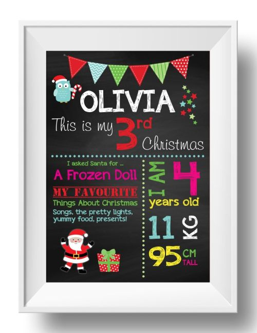 Chalkboard Wall Art - Christmas - Girl-inspiration, inspirational, print, art, wall art, wall, christmas, girl