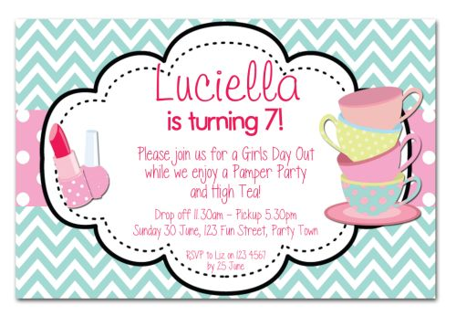 The Chic Party Boutique Party Invitations Girls – Makeover Party Invitations
