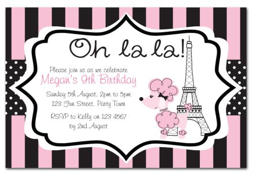 The Chic Party Boutique - Party Invitations - Girls