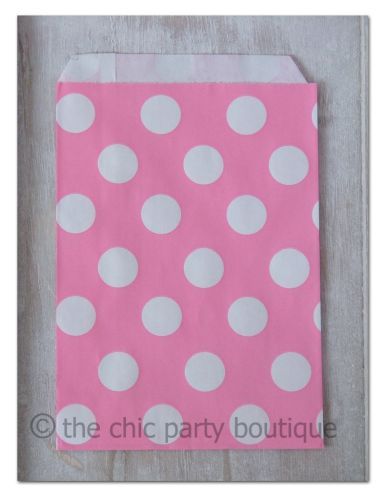 Pink with White Dot Party Bag-partybox, party, box, giftbox, gift, lootbag, loot, favor, favour, bag, partybag