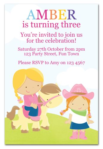 the chic party boutique  party invitations  girls, Party invitations