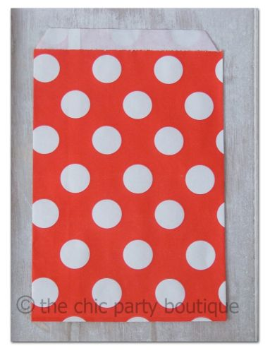 Red with White Dot Party Bag-partybox, party, box, giftbox, gift, lootbag, loot, favor, favour, bag, partybag