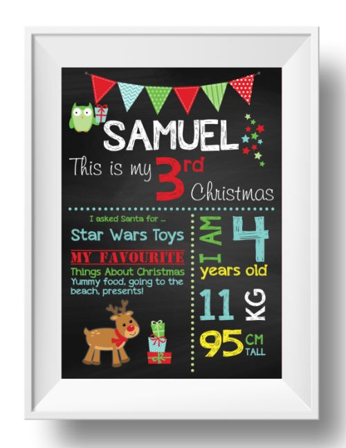 Chalkboard Wall Art - Christmas - Boy-inspiration, inspirational, print, art, wall art, wall, christmas, girl