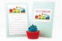 Trains Themed Fill-In Party Invitation-party, invitation, girl, boy, fill-in, fillin, train, transport, truck, car, quality, premium