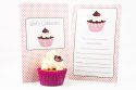Cupcake Themed Fill-In Party Invitation-party, invitation, girl, fill-in, fillin, cupcake, pretty, pink, quality, premium