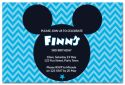 Blue Mickey Mouse Inspired Party Invitation-party, invitation, girl, celebrate, celebration, invite, mickey mouse, mouse, minnie mouse, mickey, minnie