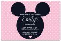 Pink Mickey Mouse Inspired Party Invitation-party, invitation, girl, celebrate, celebration, invite, mickey mouse, mouse, minnie mouse, mickey, minnie