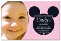 Pink Mickey Mouse Inspired Photo Party Invitation-party, invitation, girl, celebrate, celebration, invite, mickey mouse, mickey, minnie mouse, minnie