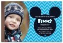Blue Mickey Mouse Inspired Photo Party Invitation-party, invitation, boy, celebrate, celebration, invite, mickey mouse, mickey, minnie mouse, minnie