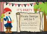 Calling all Pirates Invitation-pirate, boy, invite