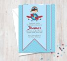 Aviator Themed Party Invitation-party, invitation, boy, celebrate, celebration, invite, birthday, aviator, aeroplane, airplane