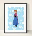 Anna & Frozen Inspired Wall Art Print-inspiration, inspirational, print, art, wall art, wall, frozen, olaf, anna, elsa