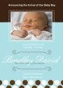 Blue and Choco Brown Announcement-party, invitation, birth, announcement, birth announcement, baby shower, baby blue, baby, celebrate, celebration, invite