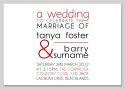 Block of Text Wedding Invitation-wedding, wedding invitation, invite, contemporary, modern, new zealand, personal, stylish, quality, inviting designs, invites by design, design