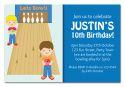 Bowling Party Invitation - Boy-party, invitation, boy, celebrate, celebration, invite, bowling, 10 pin, ten pin, bowl, pin