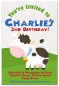 On the Farm Party Invitation 2-party, invitation, girl, celebrate, celebration, invite, farm, boy, unisex, cow, pig, horse, chicken, hen, tractor, sheep, lamb