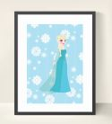 Elsa & Frozen Inspired Wall Art Print-inspiration, inspirational, print, art, wall art, wall, frozen, olaf, anna, elsa