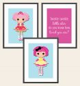 Set of 3 Wall Art Prints - Rag Dolls-print, art, wall art, wall, birth, gift, girl, baby, doll, ragdoll, rag