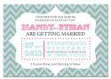 Carnival with Chevron Themed Wedding Invitation-wedding, wedding invitation, invite, contemporary, modern, new zealand, personal, stylish, quality, inviting designs, invites by design, design, carnival, chevron