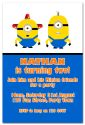 Minion Inspired Party Invitation (1)-party, invitation, boy, celebrate, celebration, invite, minion, despicable me, gru, super hero, girl