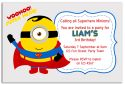 Minion Inspired Party Invitation (2)-party, invitation, boy, celebrate, celebration, invite, minion, despicable me, gru, super hero