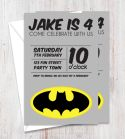Batman Inspired Party Invitation-party, invitation, boy, celebrate, celebration, invite, batman, birthday