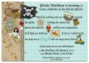 Pirate Adventure Party Invitation-party, invitation, blue, boy, celebrate, celebration, invite, boyish, masculine, baby, pirate