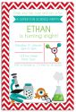 Crazy Science Themed Party Invitation-party, invitation, boy, celebrate, celebration, invite, science, scientist, experiment, crazy