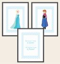 Set of 3 Wall Art Prints - Frozen Inspired-print, art, wall art, wall, birth, gift, girl, baby, frozen, anna, elsa, olaf