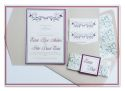 Hearts & Flourishes Wedding Invitation with Pocketfold, Bellyband and Monogram-wedding, wedding invitation, invite, contemporary, modern, new zealand, personal, stylish, quality, inviting designs, invites by design, design, pocketfold