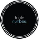 Table Numbers-wedding, wedding invitation, invite, contemporary, modern, new zealand, personal, stylish, quality, inviting designs, invites by design, design, pocketfold, response, rsvp, map, direction