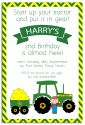 Tractor Party Invitation-party, invitation, boy, celebrate, celebration, invite, farm, tractor, john deere