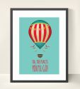 Vintage Balloon Themed Wall Art Print-dr seuss, inspiration, inspirational, print, art, wall art, wall, girl, boy, vintage, balloon, hot air balloon