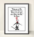 Youer Than You - Dr Seuss Print Wall Art-dr seuss, inspiration, inspirational, print, art, wall art, wall, girl, boy